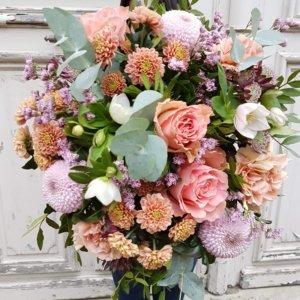 Bouquet saumon / rose