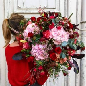 Bouquet rouge et rose