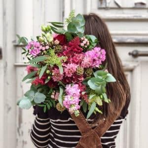 Bouquet des amoureux rouge et rose