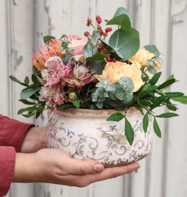 Composition de fleurs de saison