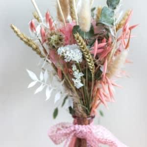 Vase de fleurs séchées - rose