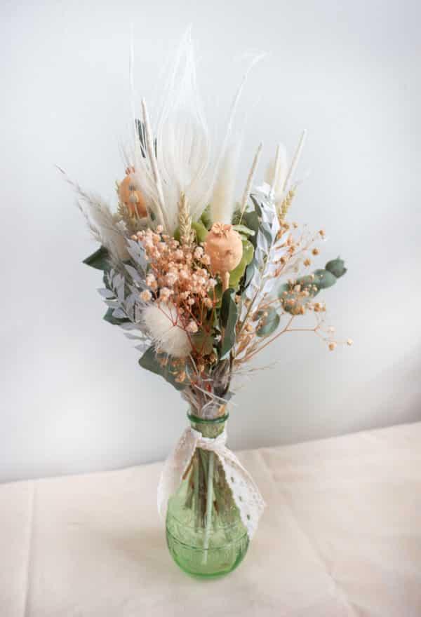 Vase de fleurs séchées - vert