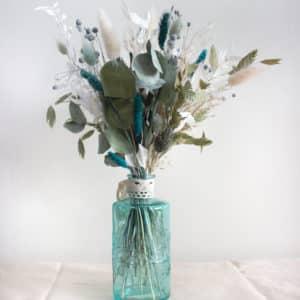 Vase de fleurs séchées - bleu